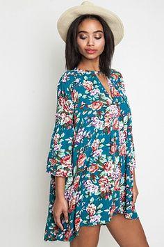 f001a7bdf2 GABRIELLA FLORAL DRESS by Umgee USA Floral Tunic, Boho Floral Dress, Simple  Dresses,