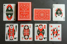 Deck View: Russian Folk Art Playing Cards | Kardify : Playing Cards News