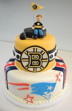 Boston sports fan cake - Grooms cake
