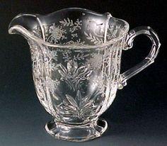 Crystal Glassware Pattern Identification | ... ? Fostoria Glass Chintz Etch | Depression and Elegant Glass to Share