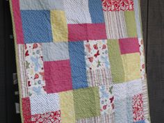 Baby Girl Quilt ladybugs by quiltmecrazy on Etsy, $100.00