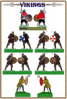 Vikings. Paper Toys, Paper Crafts, Nordic Vikings, Red Vs Blue, Mini Craft, Military Figures, Medieval Armor, Dark Ages, Toy Soldiers