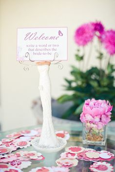 Photo holder ~ super cute prop to use at this amazing bridal shower on Style Me Pretty! Photography by Pictilio