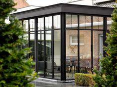 Garden Room Extensions, House Extensions, Warm Industrial, Industrial House, Glass Extension, Lets Stay Home, Garden Buildings, Rooftop Garden, Screened In Porch