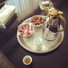 Arabic coffee + dates... perfect way to start the day!