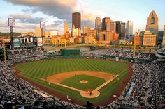 "Pittsburgh's PNC Park once again tops the list of top ballparks in the U. ""PNC Park provides an intimate setting and spectacular views and sightlines from anywhere in the stadium. Pittsburgh Pirates Stadium, Pittsburgh Sports, Pittsburgh Skyline, Sports Stadium, Stadium Tour, Sports Teams, New Yankee, Baseball Park, Baseball Season"