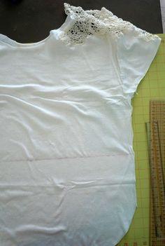 Doily T-Shirt DIY