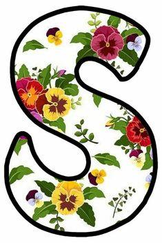 Alphabet Art, Monogram Alphabet, S Love Images, Alphabet Wallpaper, Flower Letters, Cute Backgrounds, Wood Letters, Belle Photo, Pansies