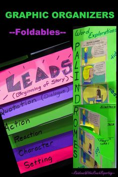 Graphic Organizers, foldables, Info with links to Dinah Zike's Foldables
