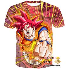 DBZ Fist from the Heavens Super Saiyan God Goku Tank Top - Dragon Ball Z 3D Tank Tops And Clothing