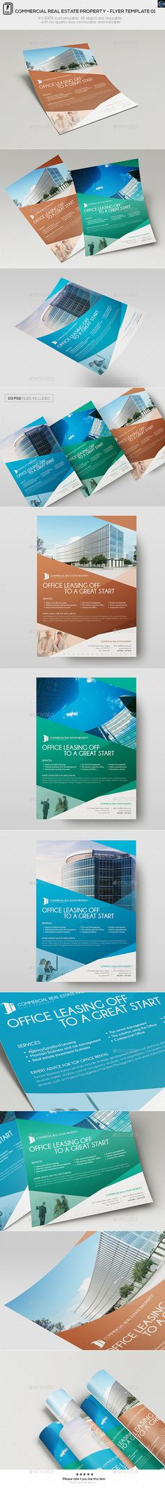 We develop commercial real estate flyers brochures for Commercial real estate brochure template