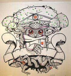 Janet Burns. Ink on paper | por Roberto Almarza.