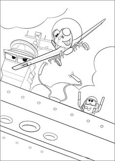 Planes Ausmalbilder. Malvorlagen Zeichnung druckbare nº 16