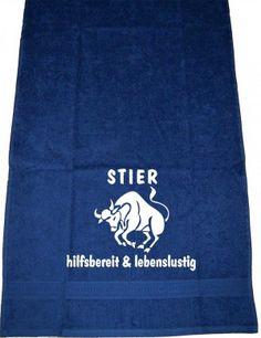 Stier – hilfsbereit & lebenslustig, Handtuch | ShirtShop-Saar.de