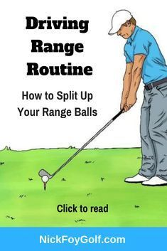 I share our favorite simple golf practice routine for the driving range. Try this practice routine out and see if you like the structure for working on the golf swing with specific drills and not random practice. golf tip Golf Sport, Golf 2, Play Golf, Golf Ball, Disc Golf, Bowling Ball, Golf Chipping Tips, Golf Putting Tips, Golf Practice