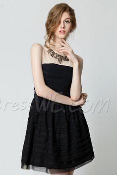 $45.29 Dresswe.comサプライ品素敵なロンドネックノースリーブ背中が大きく開い短日のドレス