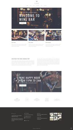 Launch a mesmerizing website for your wine bar with Vino WordPress theme. Web Design Trends, Web Design Inspiration, Simple Wordpress Themes, Wine Dinner, Wine Label Design, Wine Deals, Wine Delivery, In Vino Veritas, Design Web