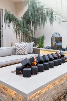 These fire pit ideas and designs will go great with any landscaping plans you ha. Diy Fire Pit, Fire Pit Backyard, Fire Pits, Outdoor Spaces, Outdoor Living, Outdoor Decor, Patio Design, House Design, Outdoor Fireplace Designs