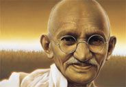 Mohatma Gandhi...the peaceful protester.