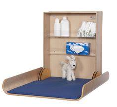 Drewniany, zamykany przewijak Professional | Przewijaki ścienne PRZEWIJAKI DREWNIANE ● Przewijaki ścienne dla niemowląt. Największy wybór.