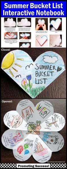 Summer Bucket List - End of the School Year Activity: In this packet, your students will be drawing or writing about their summer bucket list. The are seven variations of the ONE template, including open-ended options to meet the individual needs of all your students. This summer bucket list craft activity works well year after year for multiple grade levels due to the different templates and writing or drawing options! https://www.teacherspayteachers.com/Product/Summer-Bucket-List-Interacti...