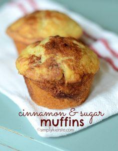 Cinnamon  Sugar Muffins | simplykierste.com