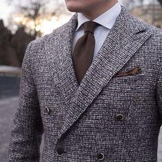 mens grey suit .