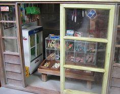 """といとのミニチュア【駄菓子屋さん】/ A miniature dagashiya (Japan's nostalgic small-time candy store) shop front from """"Toitoi."""""""
