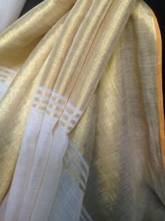 kasava sarees gold and white