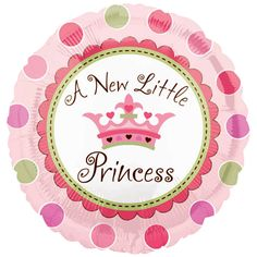Geboorte meisje folie ballon Prinses 45 cm. Kraamfeest? Bij Fun en Feest vind je de leukste geboorte versiering en decoratie.
