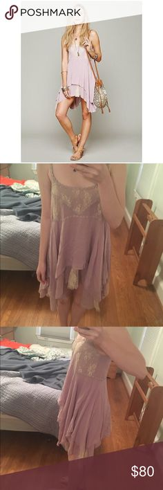 Free People Pieced Lace Tunic Slip Wisteria Sooo pretty, only worn once because I forgot I had it oops. More pics on request! (Note: I looked around and apparently this is a really rare color as I couldn't find it being sold anywhere else.) Free People Dresses
