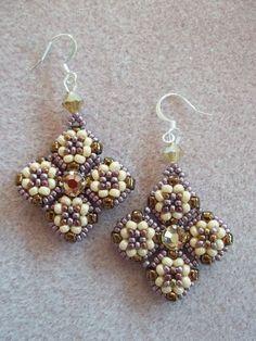 Meridian Earrings PDF Bead Weaving Tutorial by offthebeadedpath, $4.00