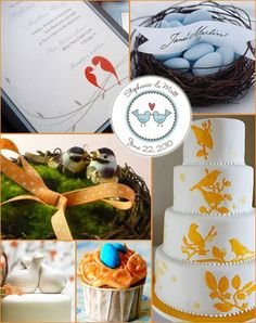 BIRDS OF A FEATHER  Bird-themed weddings will be all the craze this year. Usually called the lovebirds, these sweet creatures have always been associated with romance and love so it is obvious why they perfectly suit all those wedding attributes like the decorations, invitations, cake toppers and centre pieces.       Tossing bird seeds, bird cage centre pieces, bird themed invitations, and bird's nest favours are just a few examples.