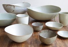 perfection in imperfection: white bowls Ceramic Clay, Ceramic Plates, Ceramic Pottery, Pottery Art, Earthenware, Stoneware, Clay Bowl, Pottery Classes, Japanese Ceramics