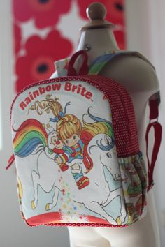 Toddler BackPack  Rainbow Brite  Medium by AkabiSelectboutique, $35.00
