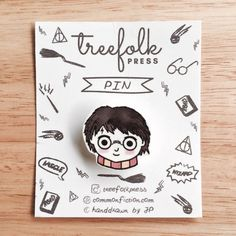 This Harry Potter pin is an original illustration, carefully hand-drawn by me on plastic.  Every pin is hand-drawn, hand-cut and baked so expect that there will be slight variations, making each piece unique and charming.  This pin will make your shirt, jacket, bag, cap or pouch look awesome! Each piece is 100% handmade and unique. It comes with a beautiful paper card with HP-inspired doodles on it, and will be shipped with utmost care.  Its a perfect gift for Harry Potter fans!    DETAILS…