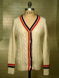 vintage Haymaker tennis cardigan sweater by expvintage on Etsy, $60.00