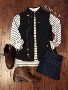 #shoprobins #boutique #fall #vest #boots