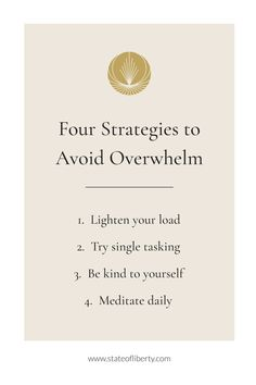 Anxiety is a common response to feeling overwhelmed. There are simple strategies you can practise to avoid it. Here are 4 simple tips: 1. Lighten your load and learn how to delegate - asking for help is not a weakness  2. Try single tasking and focus on one thing at a time. 3. Be kind to yourself, keep your inner critic under control and be gentle 4. Meditate - slow down and connect to yourself. Daily self-care   Wellbeing toolkit   Decluttering ideas #Mindfulness Liberty Online, Decluttering Ideas, Womens Wellness, Daily Meditation, Holistic Wellness, Ask For Help, Be Kind To Yourself, Feeling Overwhelmed, Critic