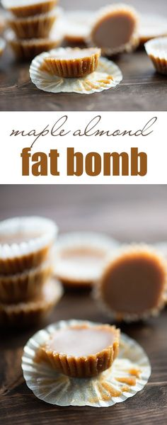 Maple Almond Fudge Fat Bombs - I found my favorite keto friendly dessert! These low carb fat bombs are full of maple flavor and the texture is like a creamy peanut butter cup! Keto Friendly Desserts, Low Carb Desserts, Low Carb Recipes, Dessert Recipes, Atkins Recipes, Egg Recipes, Keto Fat, Low Carb Keto, Keto Regime