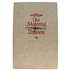 The Meaning Of Treason, $54, now featured on Fab.