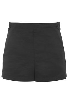 High-Waisted Side Tab Shorts - Topshop