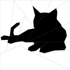 "Silhouette Cat #5 10""(26 cm) Paper Pieced patterns quiltartdesigns.blogspot.com"