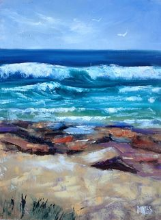 I am an artist who is passionate about Australia. I paint nature-inspired oil paintings of forests, flowers, the outback, gum trees and the sea. 30 Day Challenge, February, Rocks, Challenges, Waves, Australia, Paintings, Beach, Artist