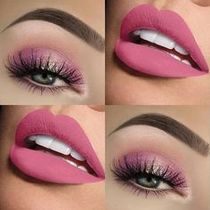 It's all about the pinks… It's never too pink… – Das schönste Make-up Cute Makeup, Glam Makeup, Pretty Makeup, Eyeshadow Makeup, Makeup Tips, Beauty Makeup, Makeup Looks, Hair Beauty, Awesome Makeup