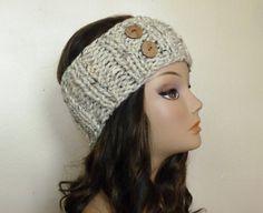 Hand knit headband headwrap