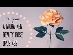 Origami Rose: A Miura-ken Beauty Rose, opus 482 (Instructions). Follow the links in the description box for more info/details on how to complete the rose. Lots of crease patterns to make, then collapsed, then styled to make a rose.