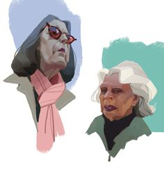 ArtStation - old ladies, Lisa Parfenova