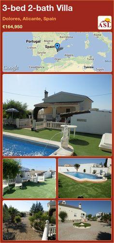 3-bed 2-bath Villa in Dolores, Alicante, Spain ►€164,950 #PropertyForSaleInSpain