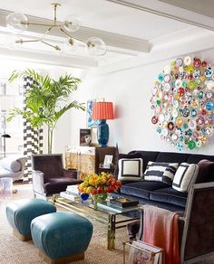Living Room Layout - Celerie Kemble in @verandamag